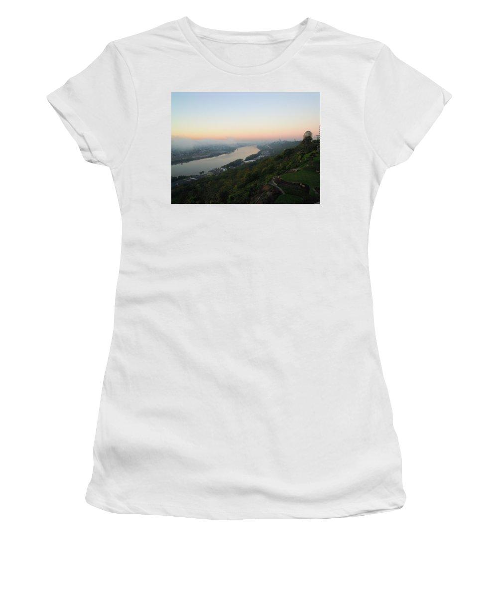 Cincinnati Women's T-Shirt featuring the photograph View - East Walnut Hills by Ellen Meakin