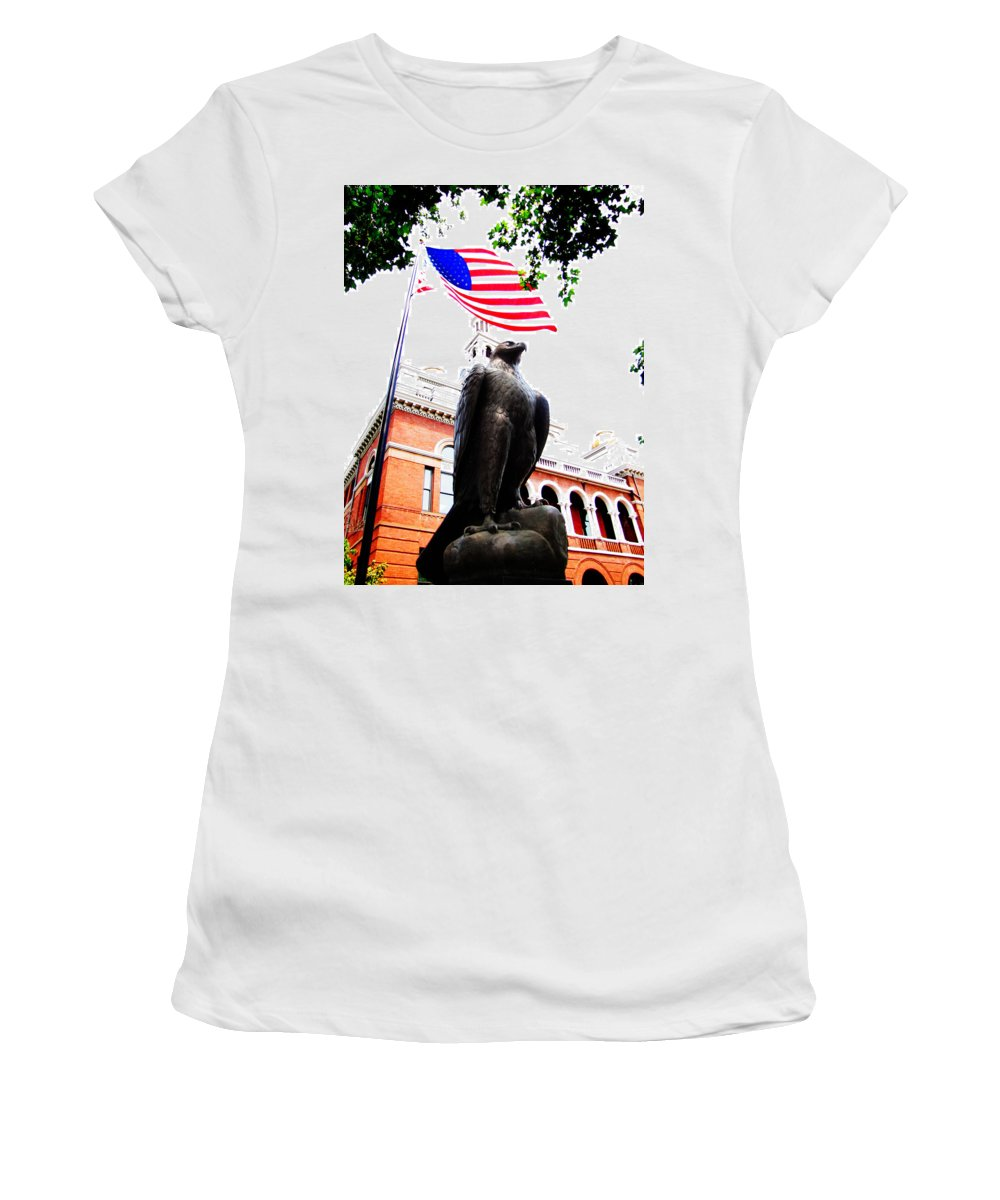 Ron Tackett Women's T-Shirt featuring the photograph Vigilant In Sevierville by Ron Tackett