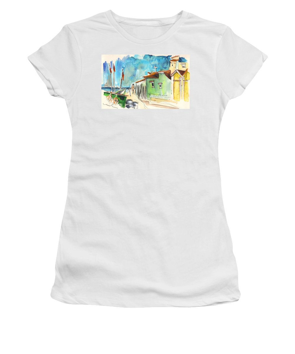 Travel Women's T-Shirt (Athletic Fit) featuring the painting Vila Cha 02 by Miki De Goodaboom