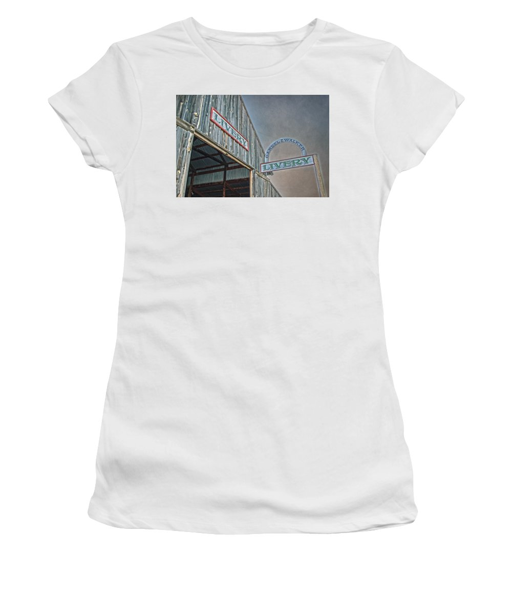 Vintage Women's T-Shirt (Athletic Fit) featuring the photograph Vintage Livery by Judy Hall-Folde