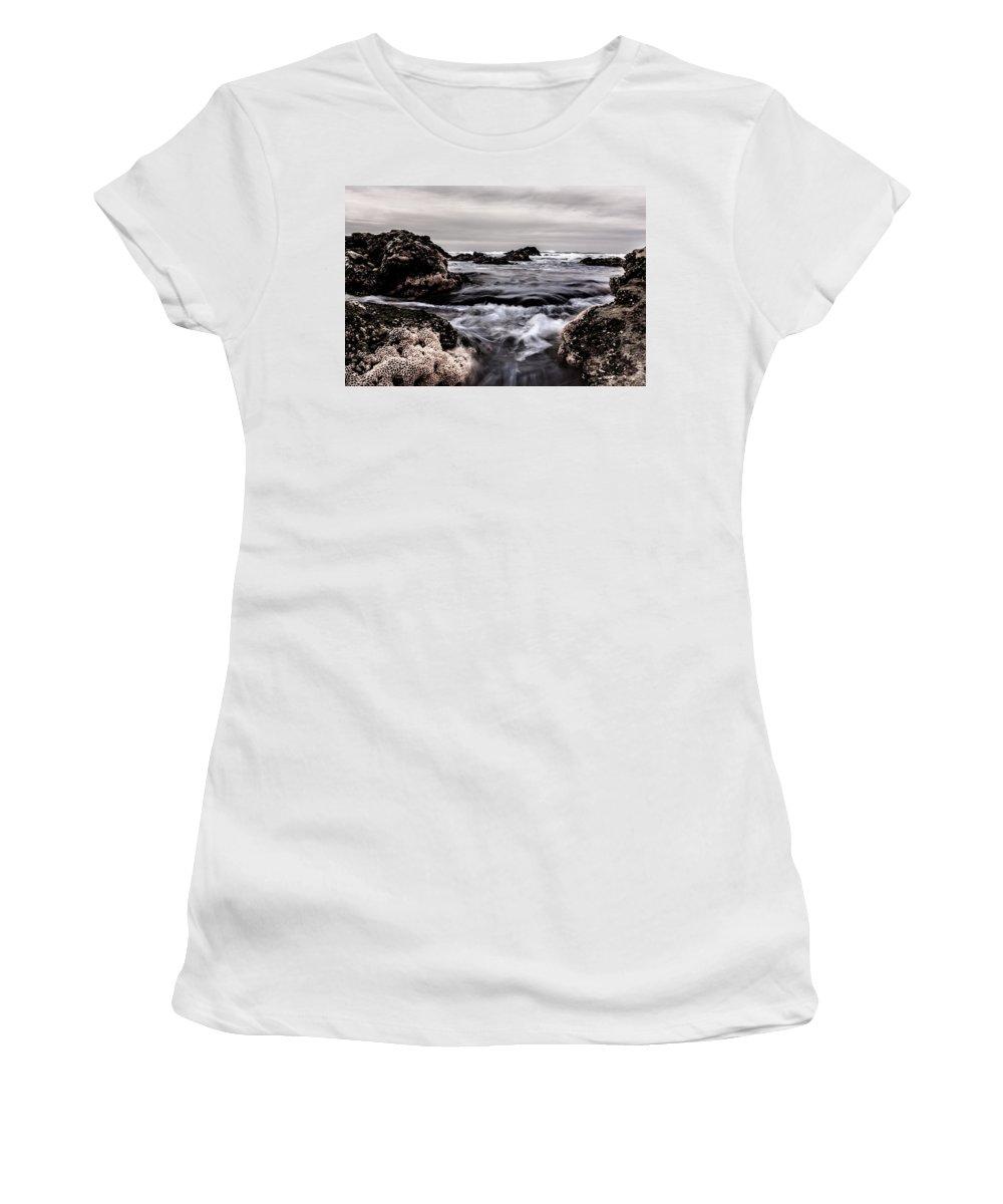 Vortex Women's T-Shirt (Athletic Fit) featuring the photograph Vortex by Edgar Laureano