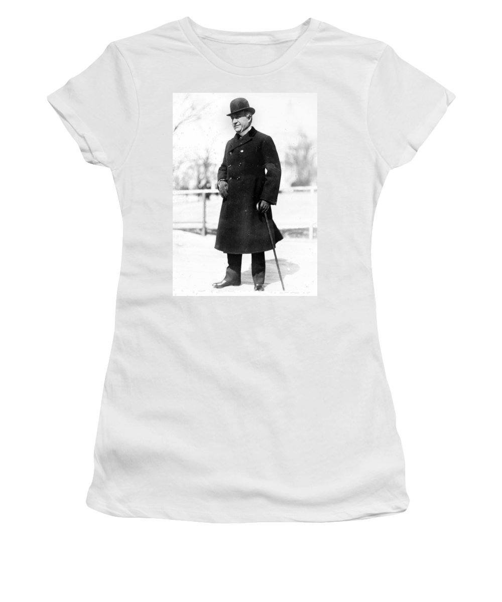 1900s Women's T-Shirt (Athletic Fit) featuring the photograph W by Granger
