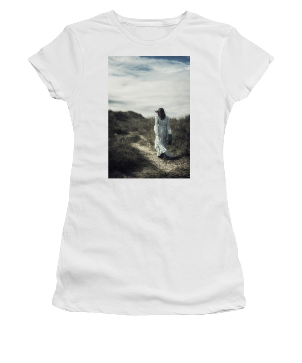 Woman Women's T-Shirt featuring the photograph Walk In The Wind by Joana Kruse