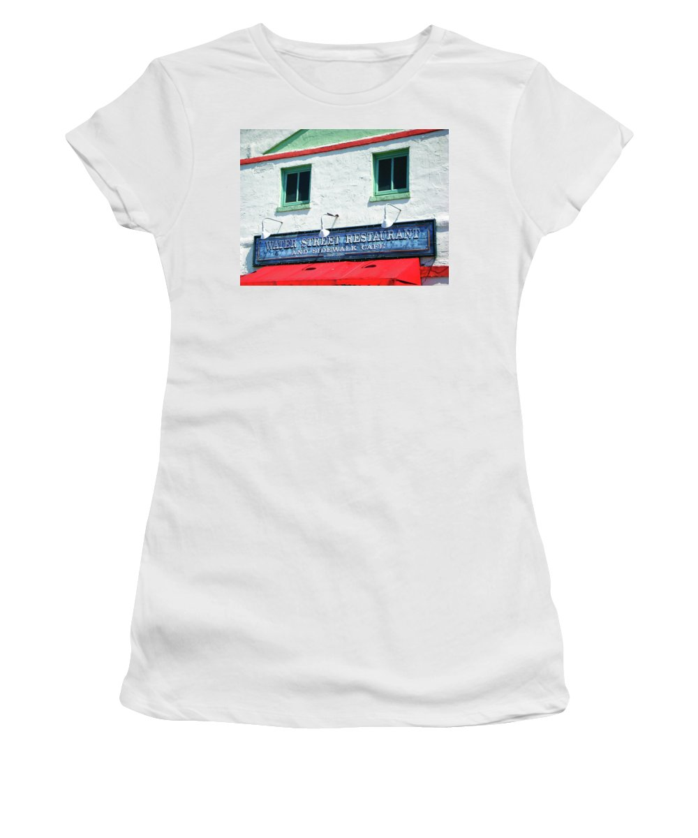 Water Street Women's T-Shirt (Athletic Fit) featuring the photograph Water Street 0772 by Guy Whiteley