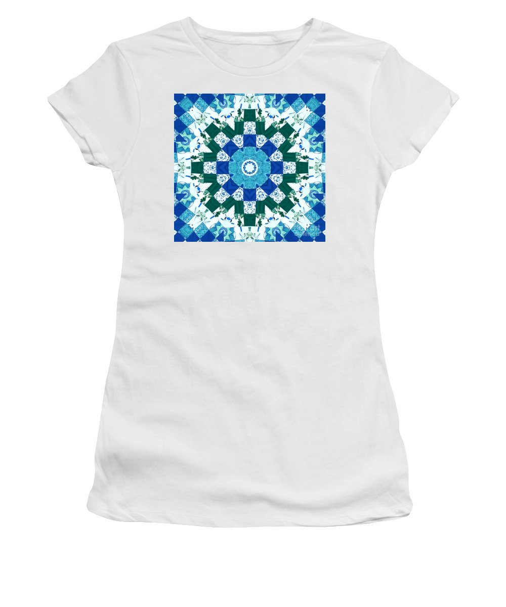 Quilts Women's T-Shirt featuring the tapestry - textile Watercolor Quilt by Barbara Griffin