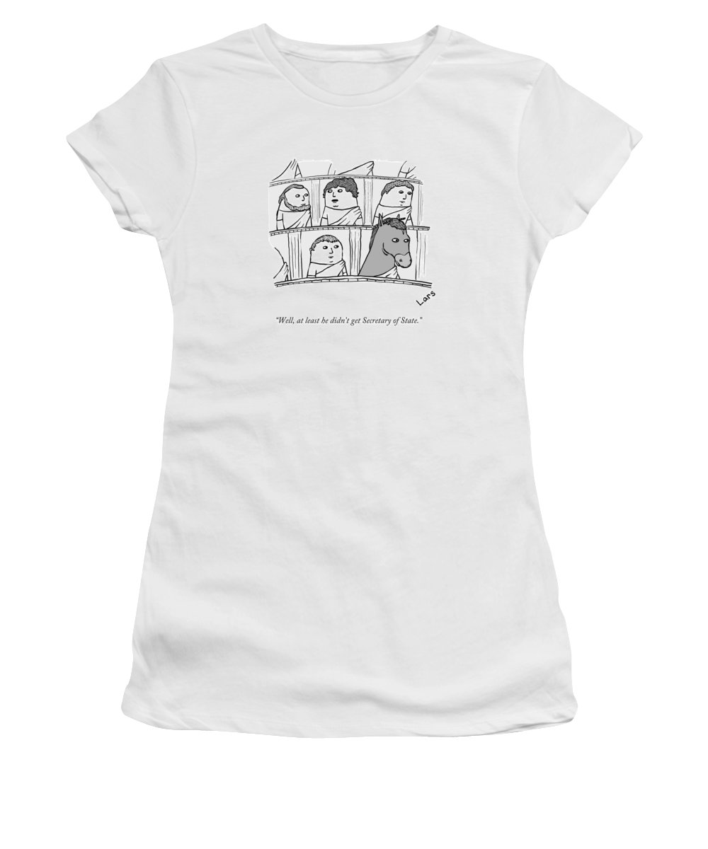 Well Women's T-Shirt featuring the drawing Roman Senate by Lars Kenseth