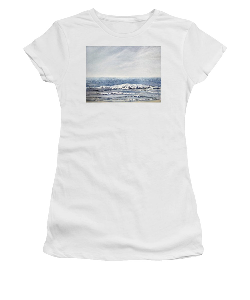 Seascape Women's T-Shirt (Athletic Fit) featuring the painting Where I Want To Be by Todd Blanchard