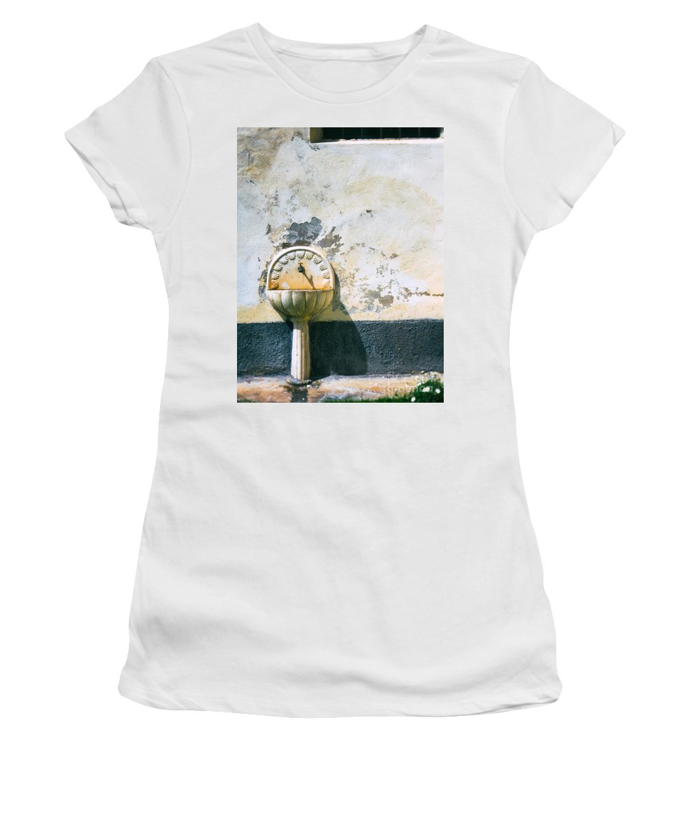 Architecture Women's T-Shirt featuring the photograph White Fountain by Silvia Ganora