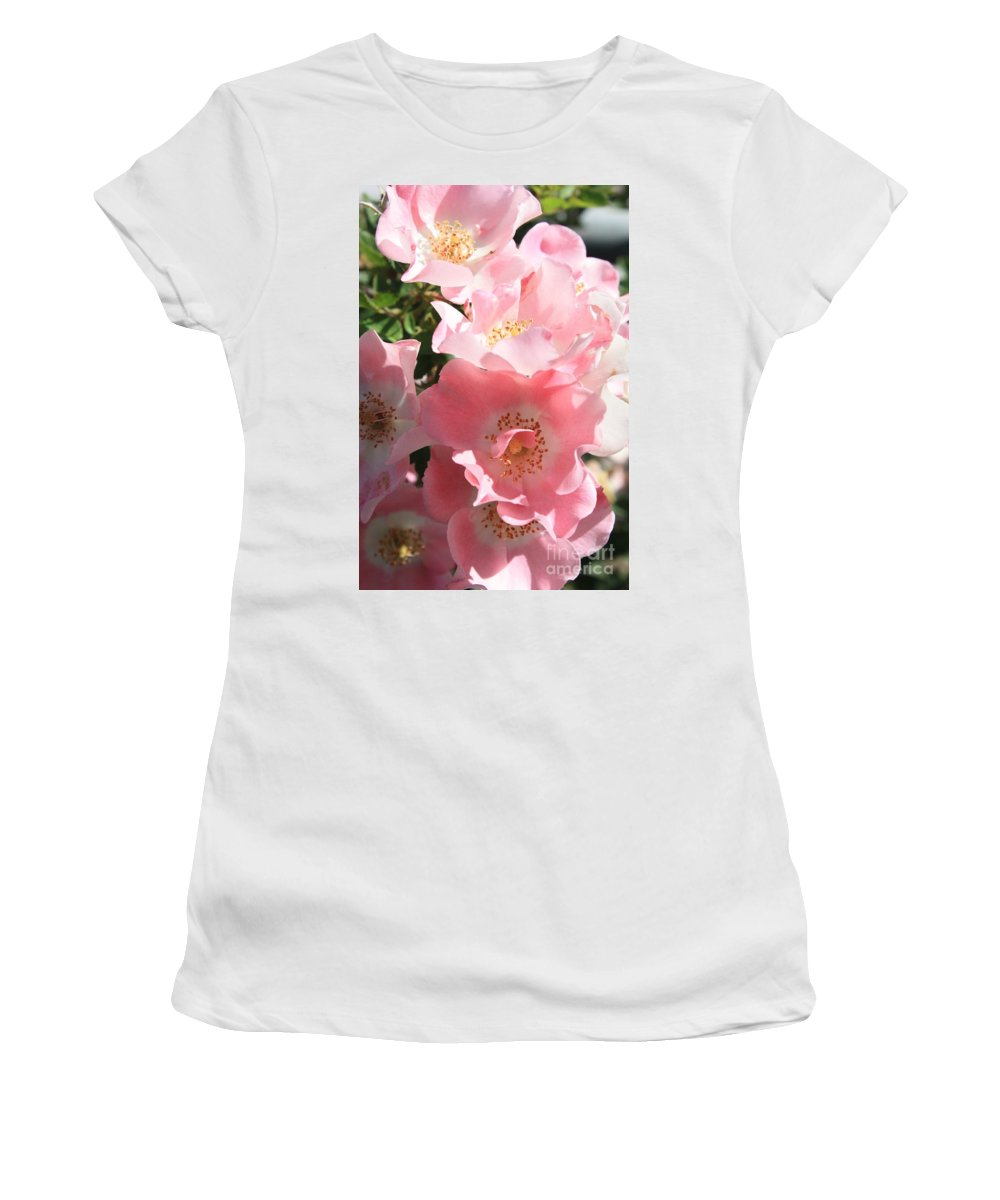 Wild Roses Women's T-Shirt (Athletic Fit) featuring the photograph Wild Roses by Carol Groenen