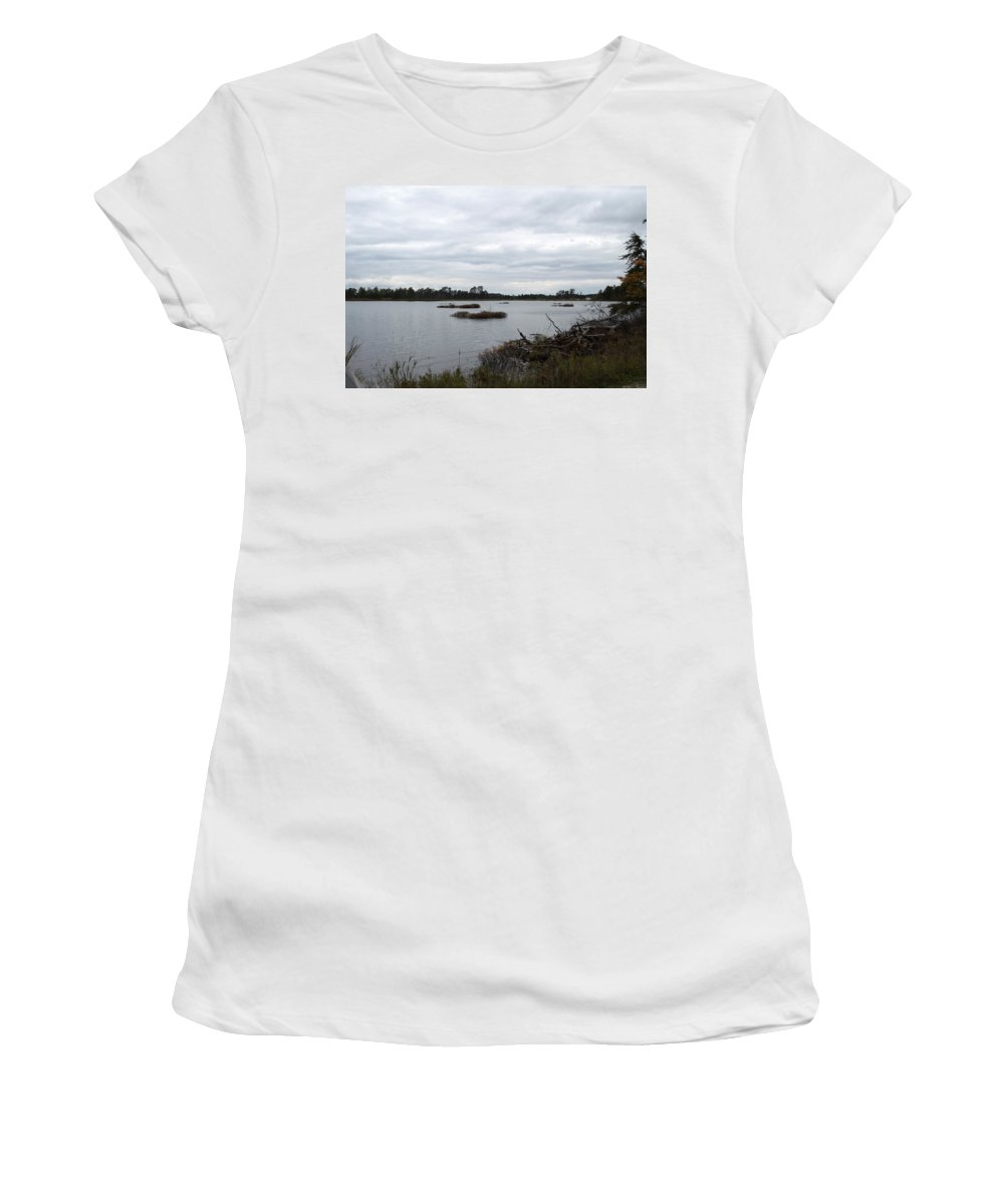 Upper Peninsula Women's T-Shirt (Athletic Fit) featuring the photograph Wilderness by Linda Kerkau