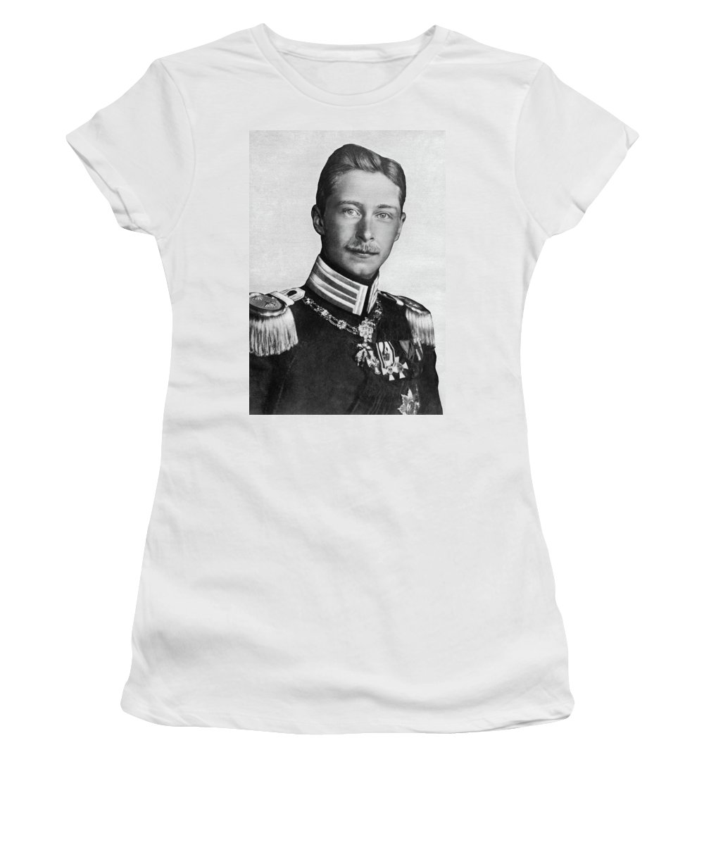 1915 Women's T-Shirt (Athletic Fit) featuring the photograph Wilhelm (1882-1951) by Granger