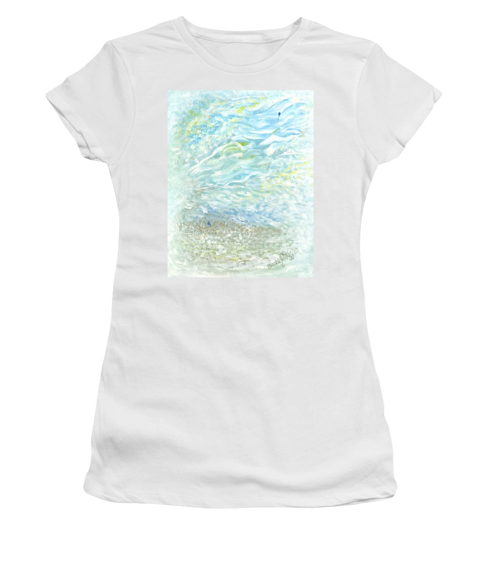 Window From Heaven Women's T-Shirt featuring the painting Window From Heaven by Beckie J Neff