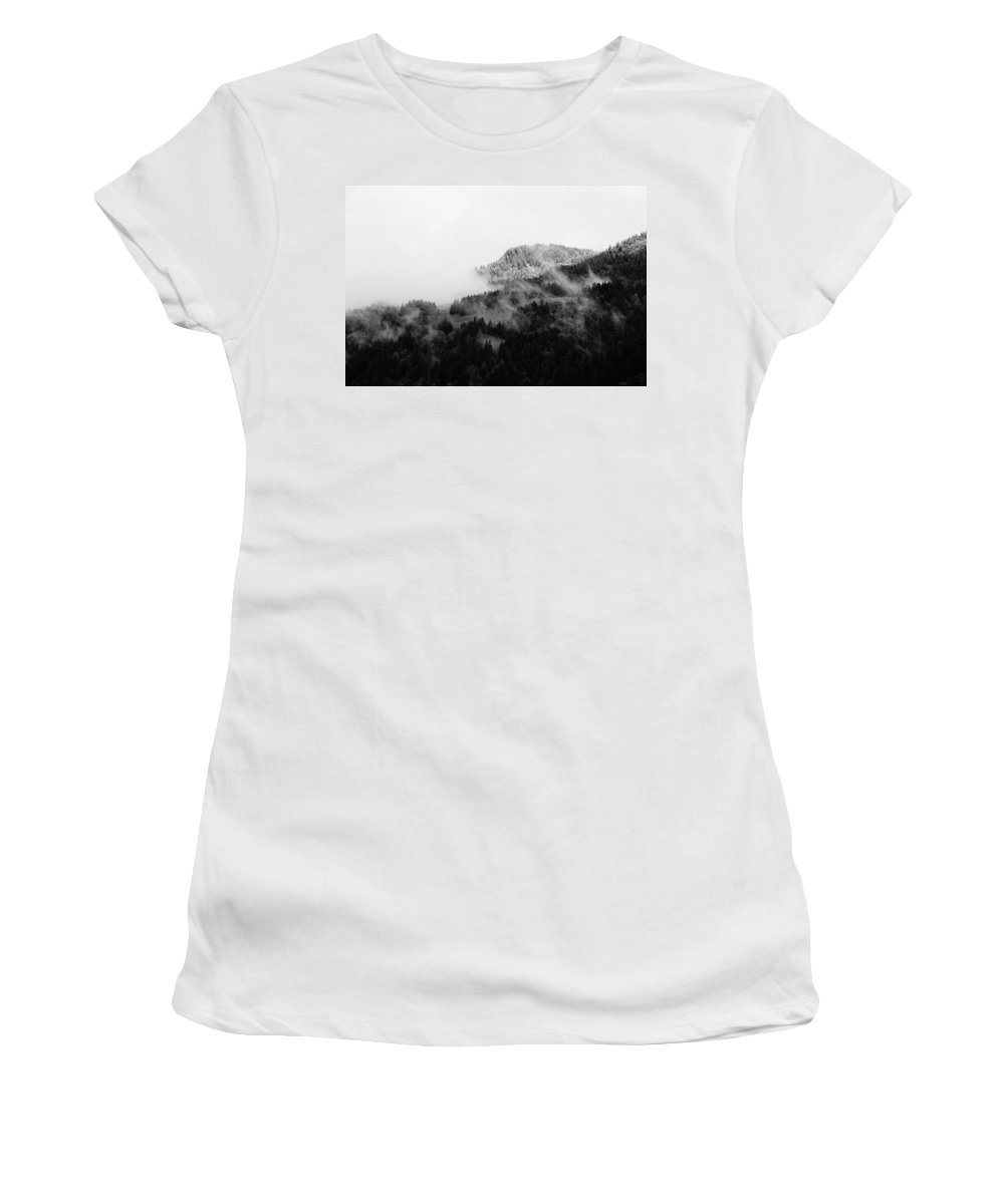 Landscape Women's T-Shirt (Athletic Fit) featuring the photograph Winter Mist by Olivier De Rycke