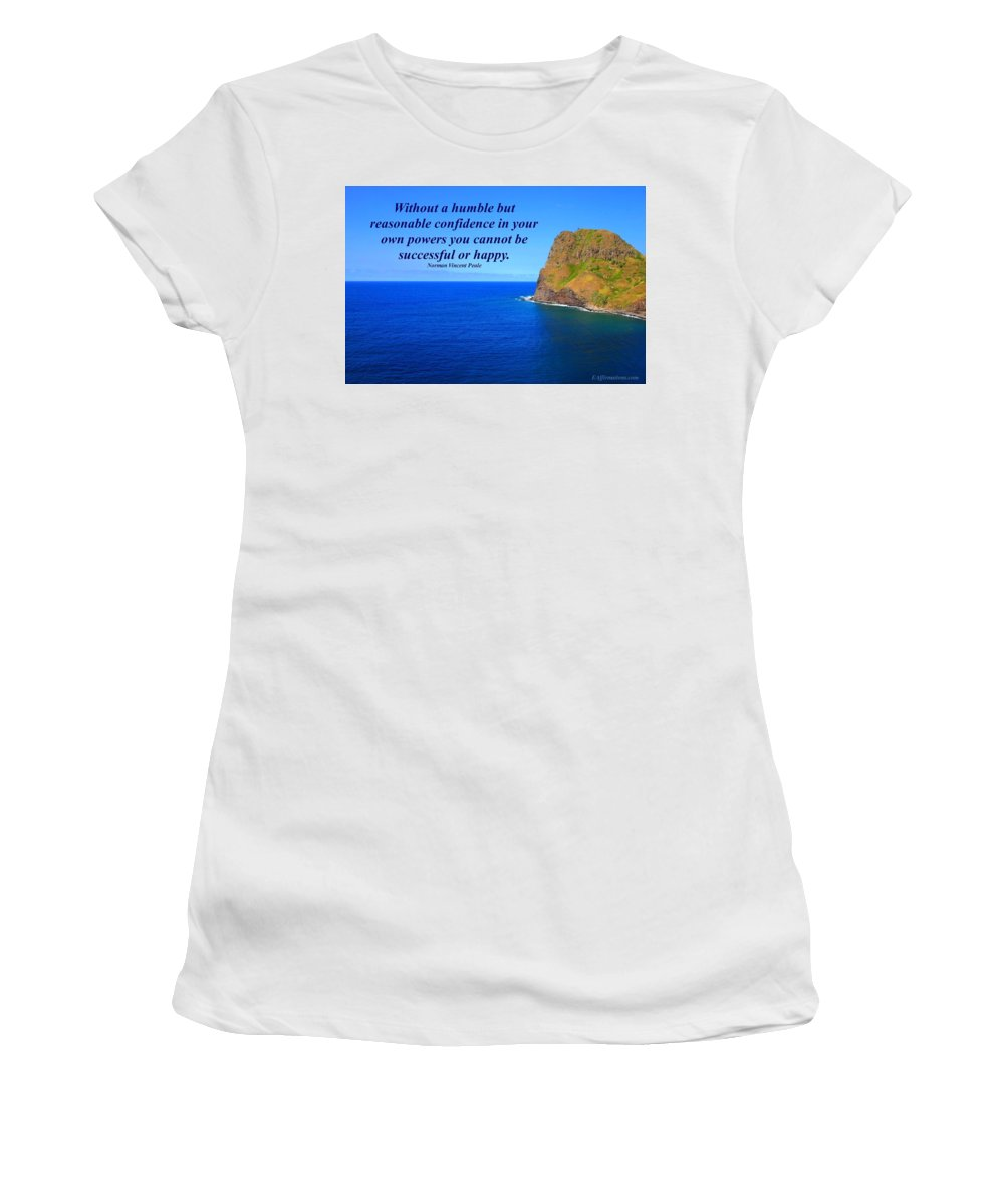 Maui Women's T-Shirt (Athletic Fit) featuring the photograph Without A Humble Confidence by Pharaoh Martin