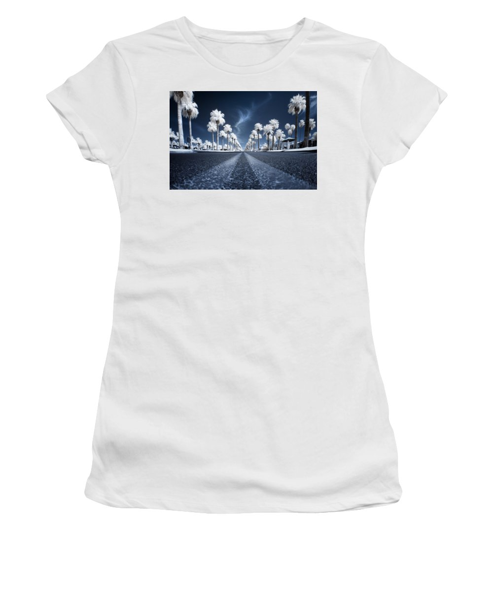 Infrared Women's T-Shirt (Athletic Fit) featuring the photograph X by Sean Foster