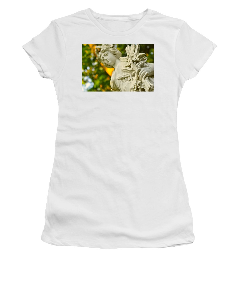 Landscape Women's T-Shirt (Athletic Fit) featuring the photograph Yaddo Season 3 by Tina Baxter