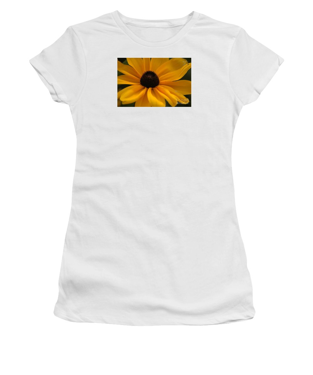 Yellow Women's T-Shirt (Athletic Fit) featuring the photograph Yellow Silk by Kathleen Struckle