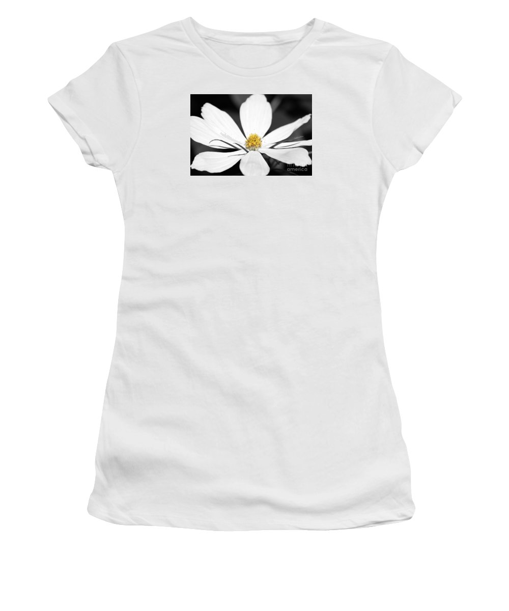 Yellow Women's T-Shirt featuring the photograph Yellow Stamen by Wendy Wilton