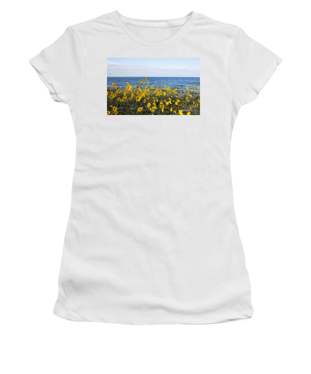 Wildflower Women's T-Shirt featuring the photograph Yellow Wind by Barbara McMahon