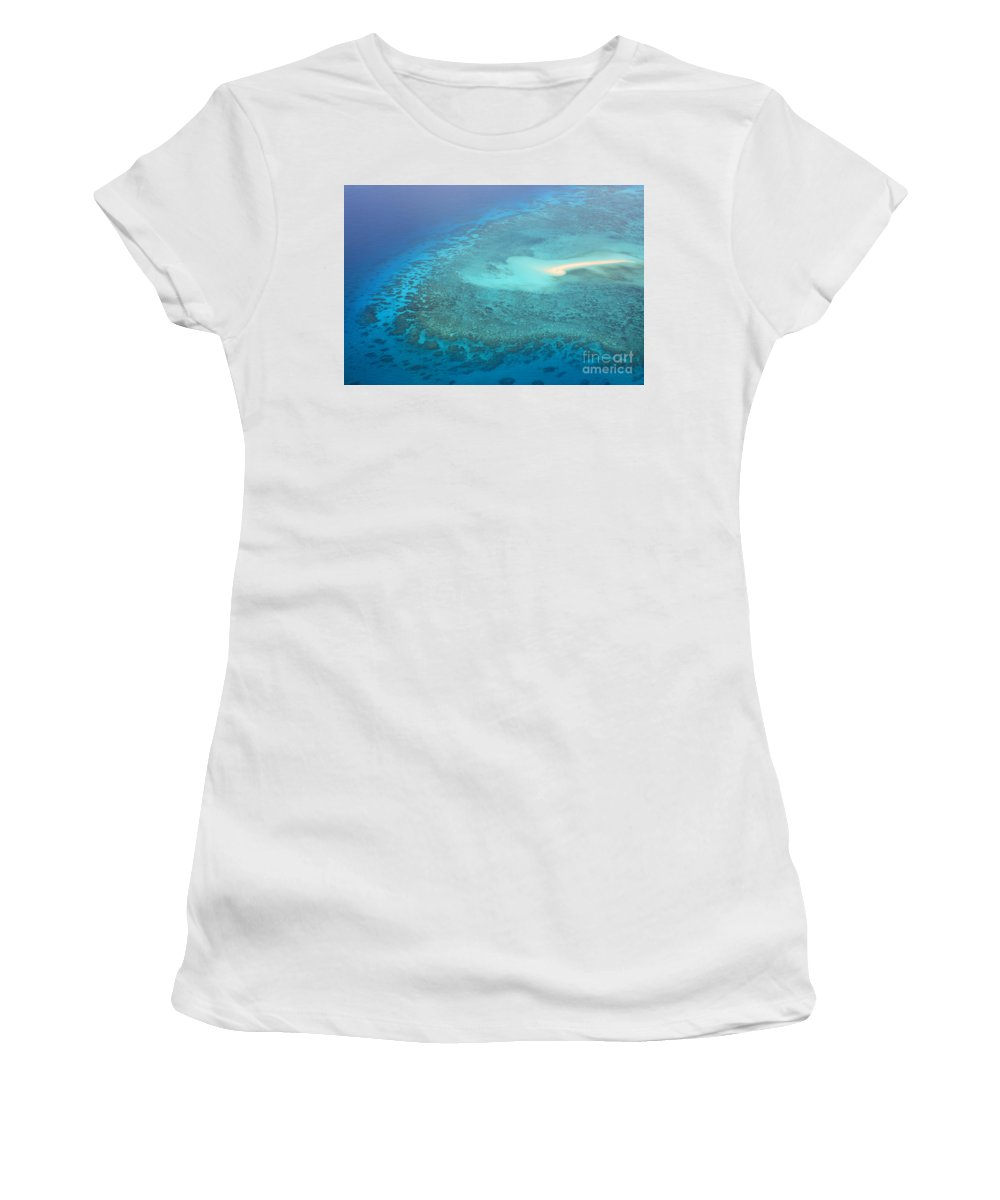 Great Barrier Reef Australia Women's T-Shirt (Athletic Fit) featuring the photograph You Found Me Great Barrier Reef Australia by Christine Dekkers