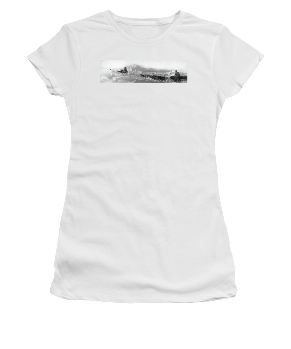 1905 Women's T-Shirt (Athletic Fit) featuring the photograph Ziegler Polar Expedition by Granger