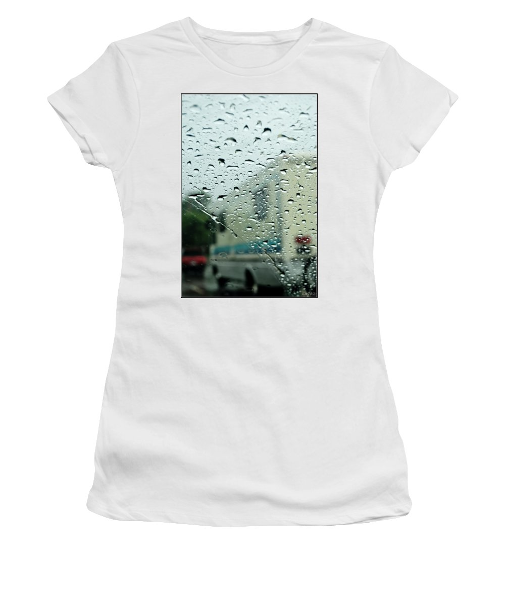 Women's T-Shirt featuring the photograph 02 Crying Skies by Michael Frank Jr