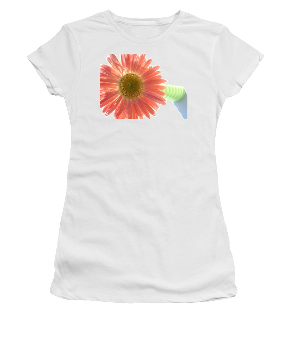 Gerbera Photographs Photographs Photographs Women's T-Shirt (Athletic Fit) featuring the photograph 0660a1 by Kimberlie Gerner