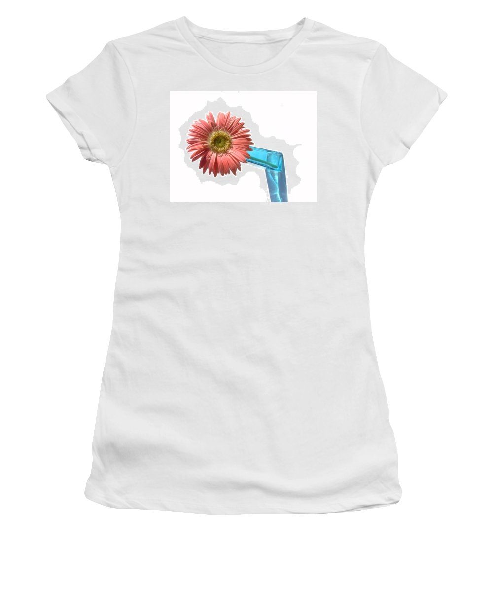 Gerbera Photographs Photographs Photographs Women's T-Shirt (Athletic Fit) featuring the photograph 0662a by Kimberlie Gerner