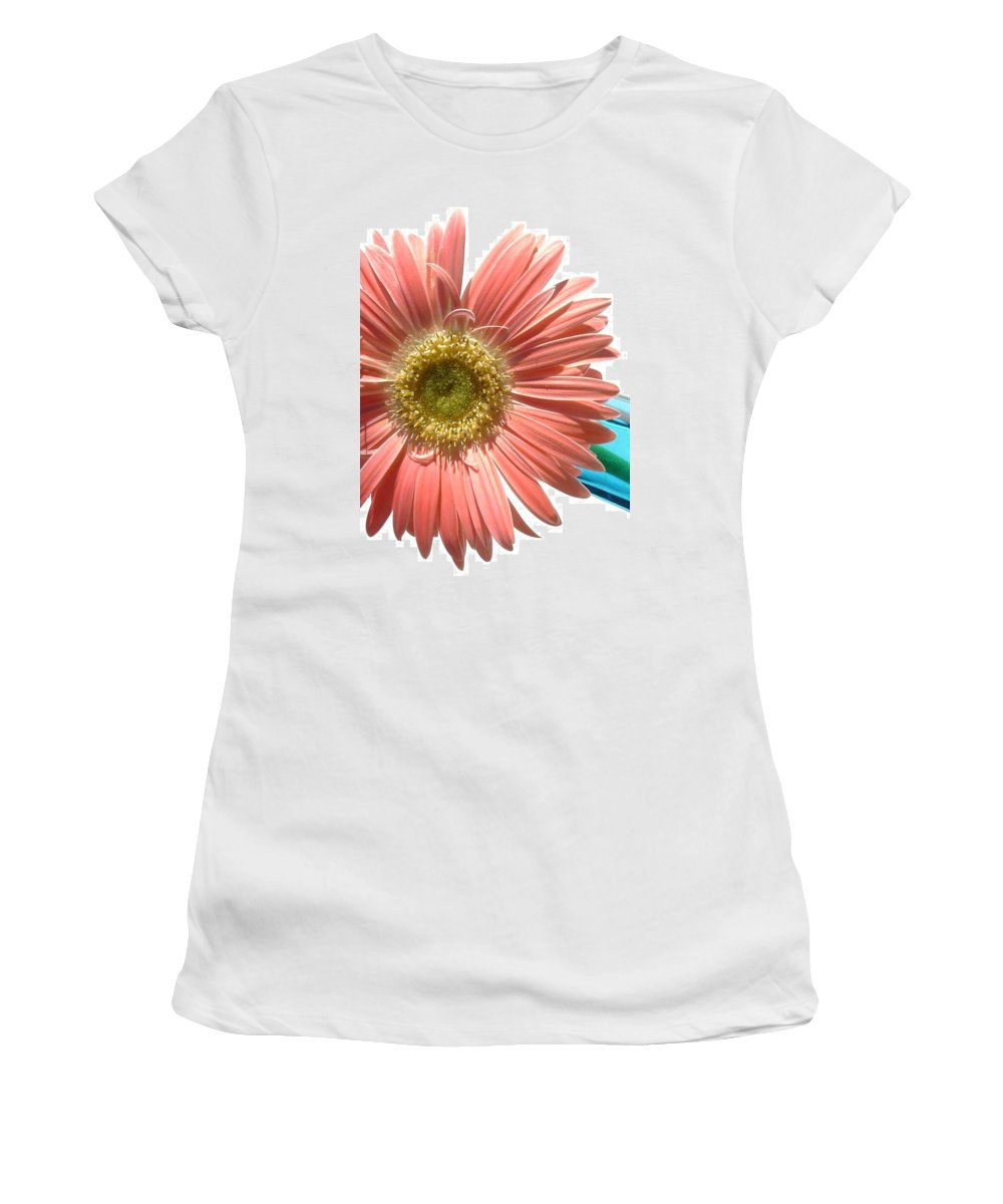 Gerbera Photographs Photographs Photographs Women's T-Shirt (Athletic Fit) featuring the photograph 0663a-5c by Kimberlie Gerner