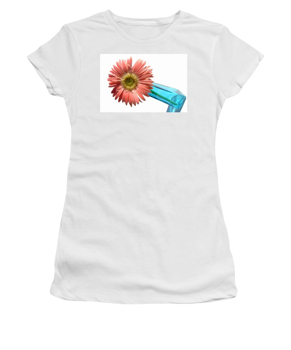 Gerbera Photographs Photographs Photographs Women's T-Shirt (Athletic Fit) featuring the photograph 0663a1-2 by Kimberlie Gerner