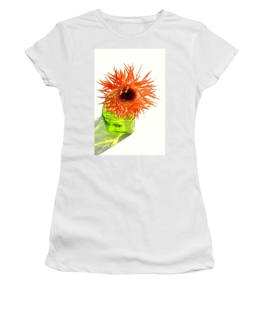 Gerbera Photographs Women's T-Shirt featuring the photograph 0690c-001 by Kimberlie Gerner