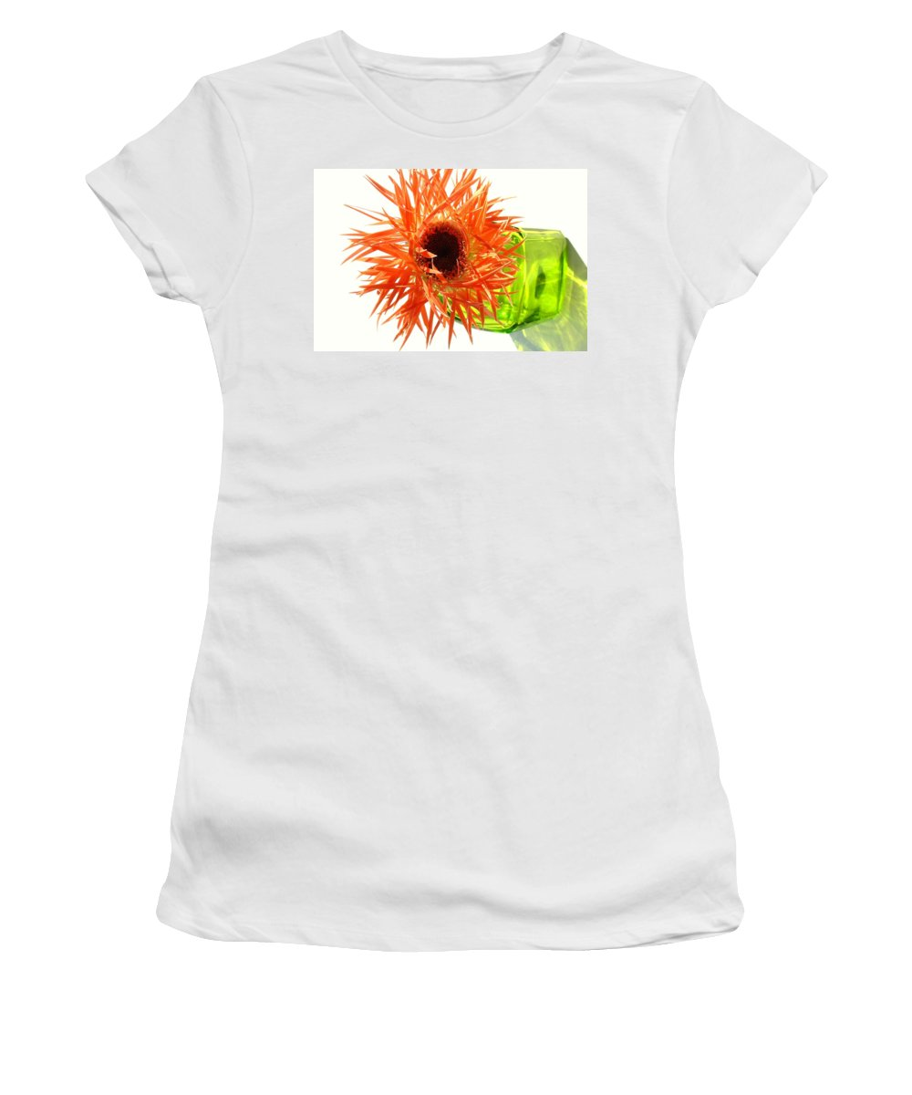 Gerbera Photographs Women's T-Shirt featuring the photograph 0690c-003 by Kimberlie Gerner