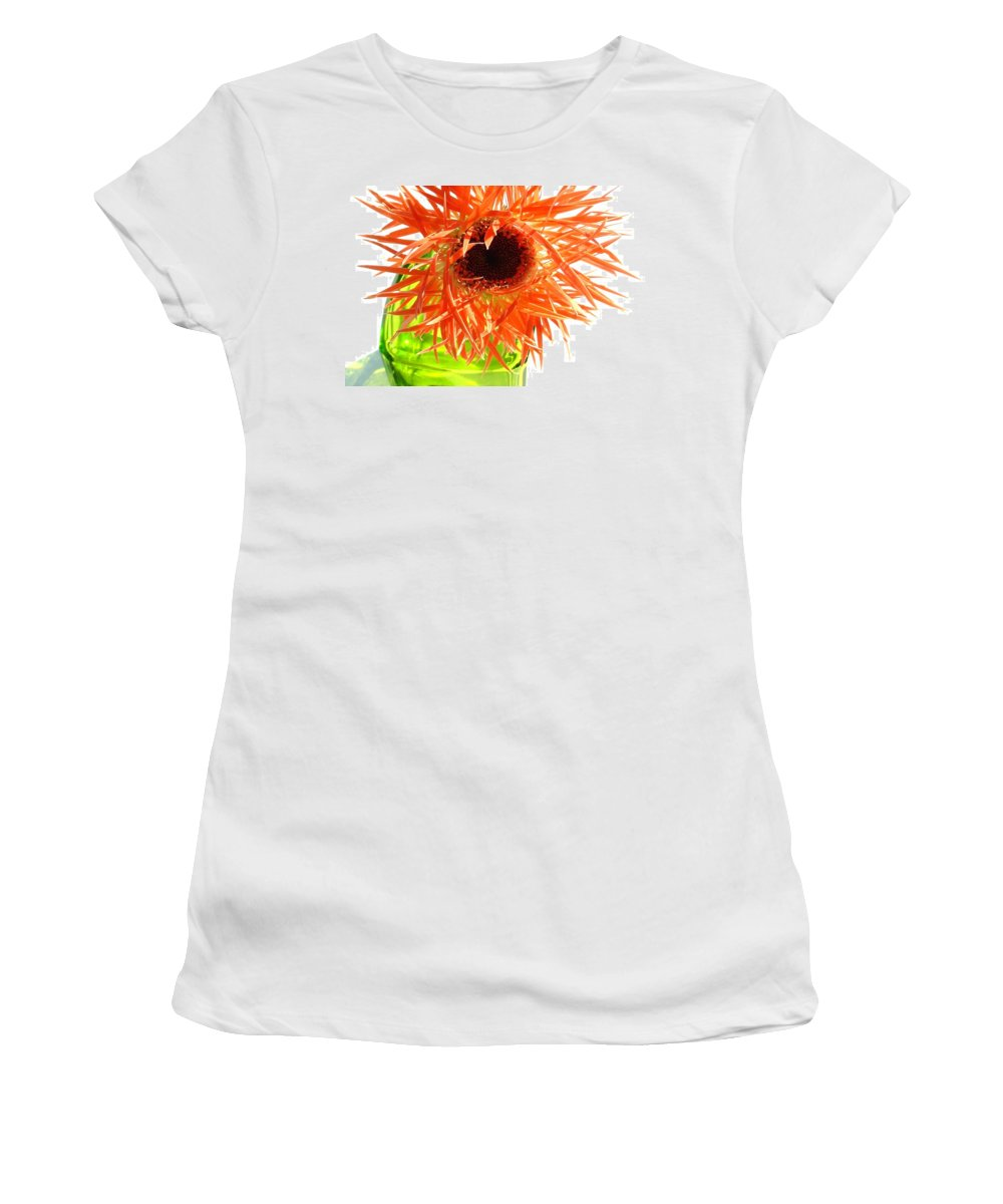 Gerbera Photographs Women's T-Shirt featuring the photograph 0690c-007 by Kimberlie Gerner