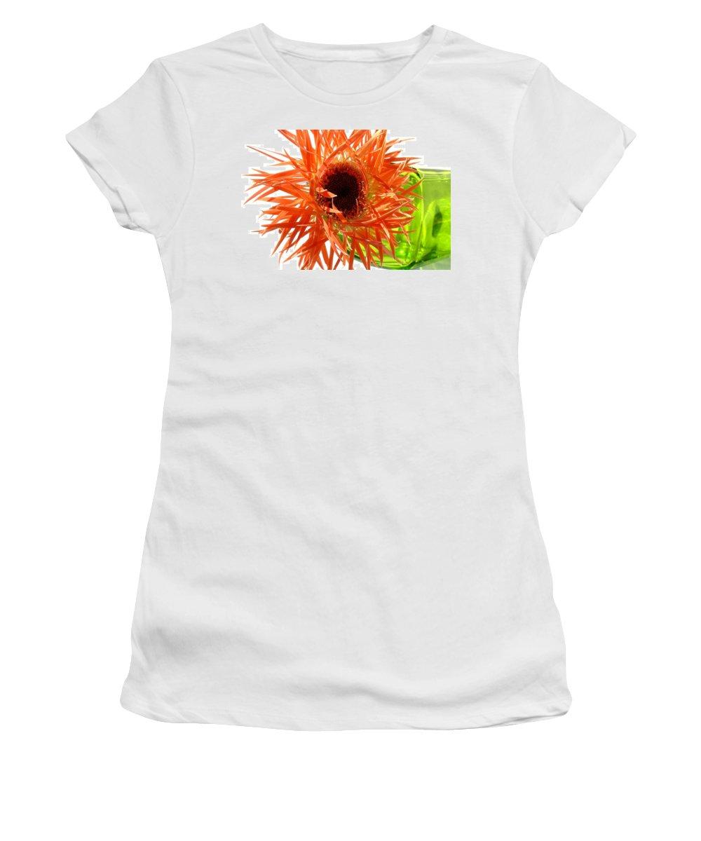 Gerbera Photographs Women's T-Shirt featuring the photograph 0690c-009 by Kimberlie Gerner