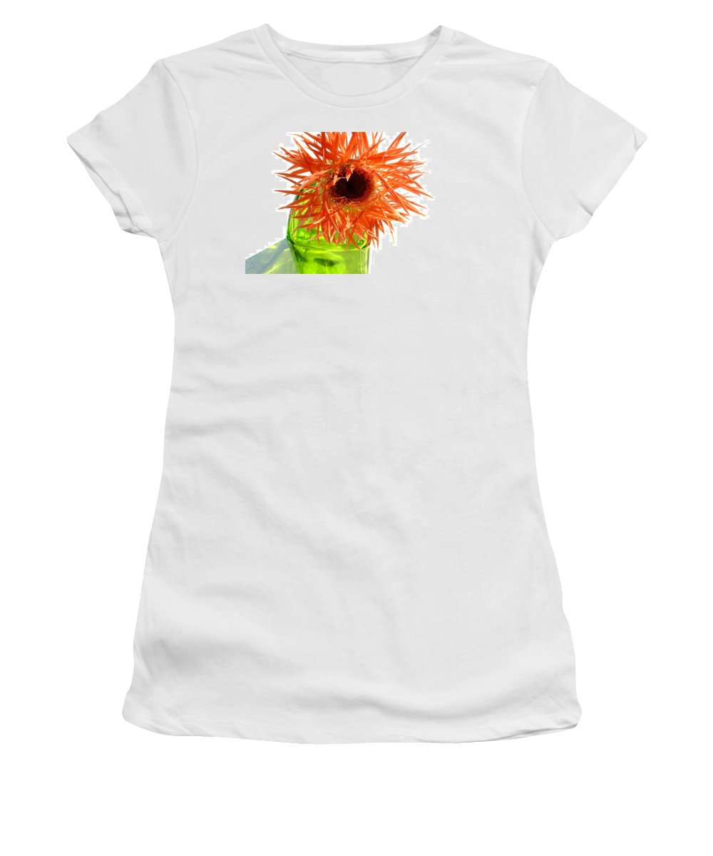 Gerbera Photographs Women's T-Shirt featuring the photograph 0690c-018 by Kimberlie Gerner