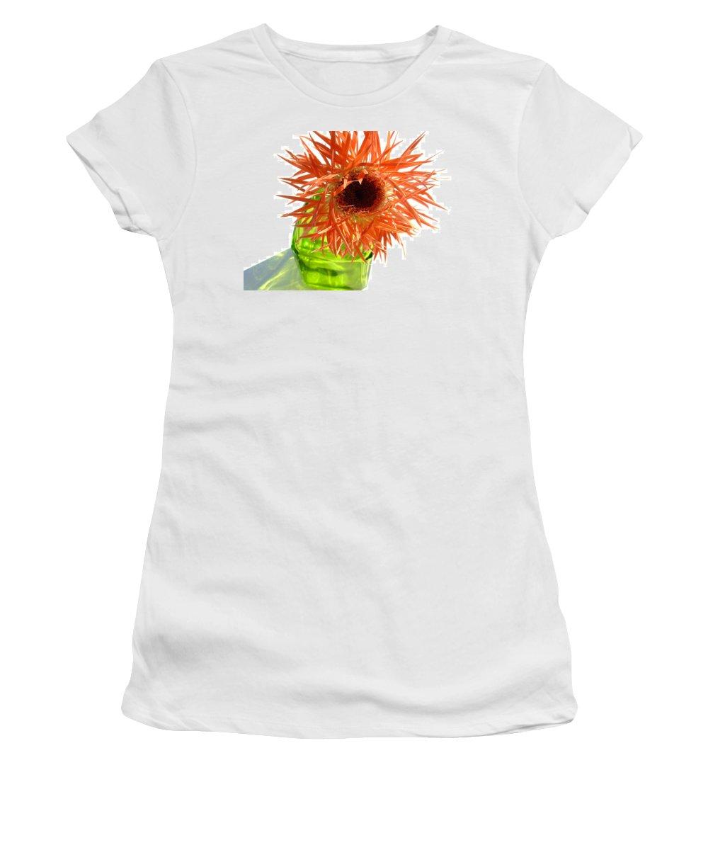 Gerbera Photographs Women's T-Shirt featuring the photograph 0693c by Kimberlie Gerner