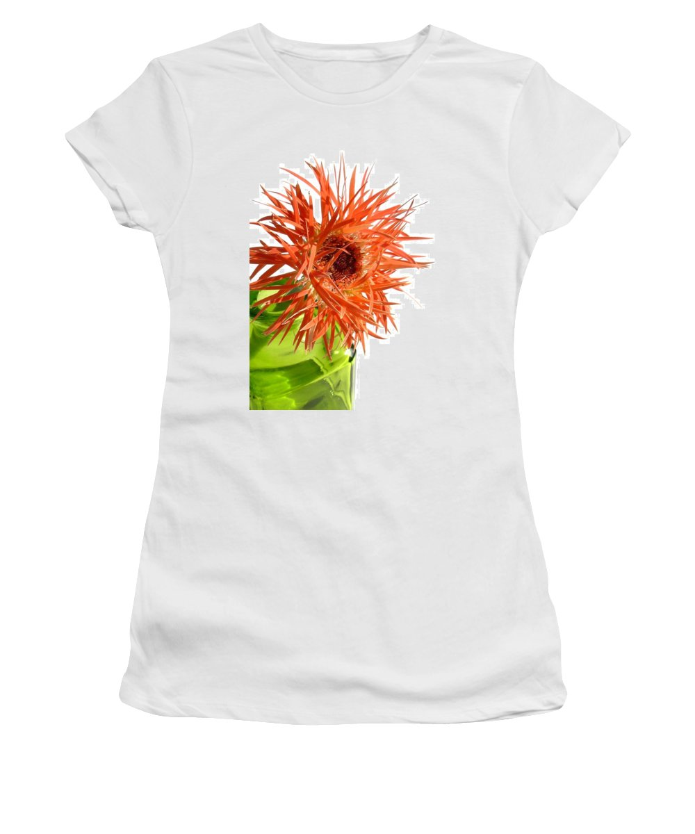 Gerbera Photographs Women's T-Shirt featuring the photograph 0694c-002 by Kimberlie Gerner