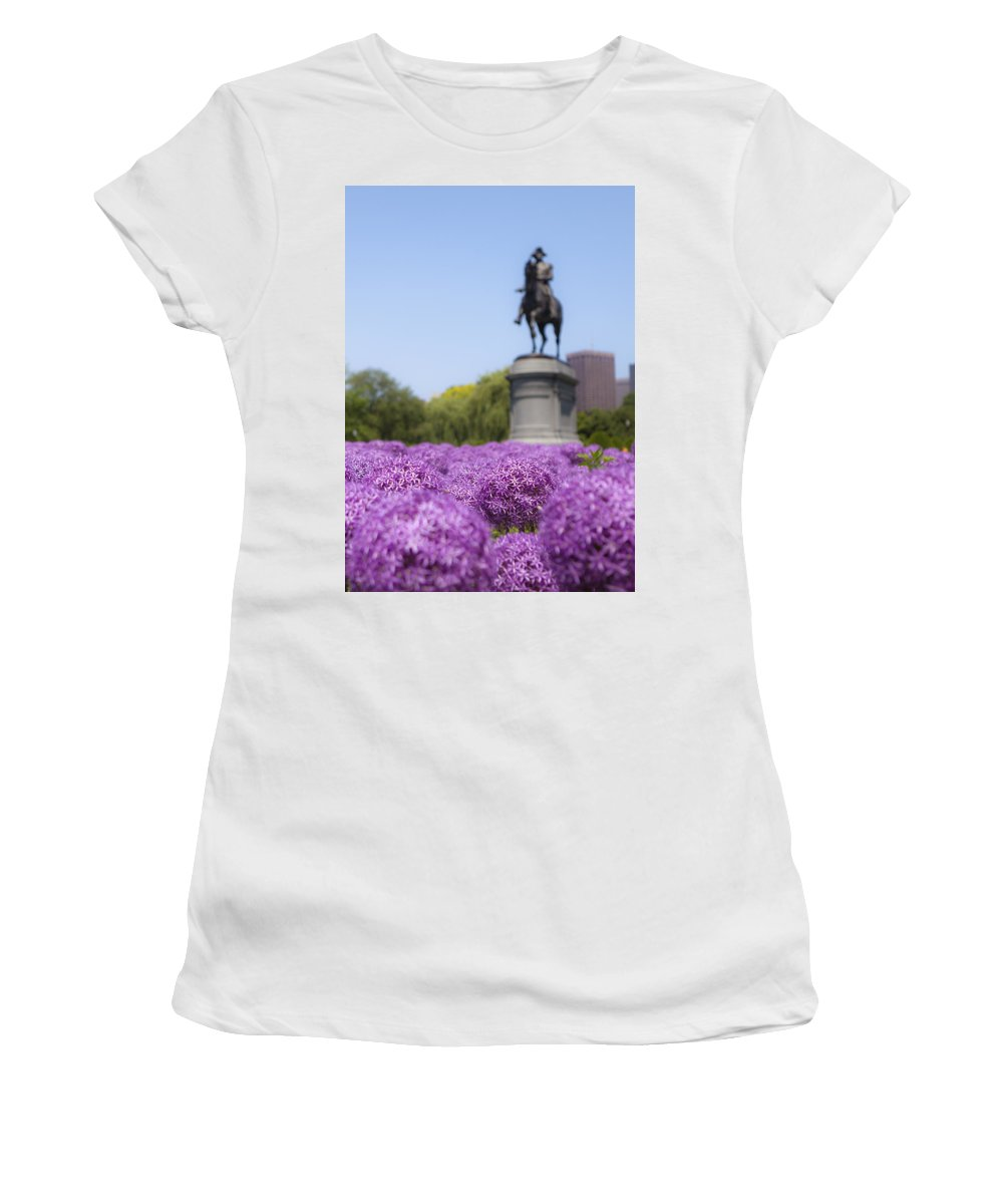 Giant Women's T-Shirt (Athletic Fit) featuring the photograph Allium Flower At The Boston Common by Jiayin Ma
