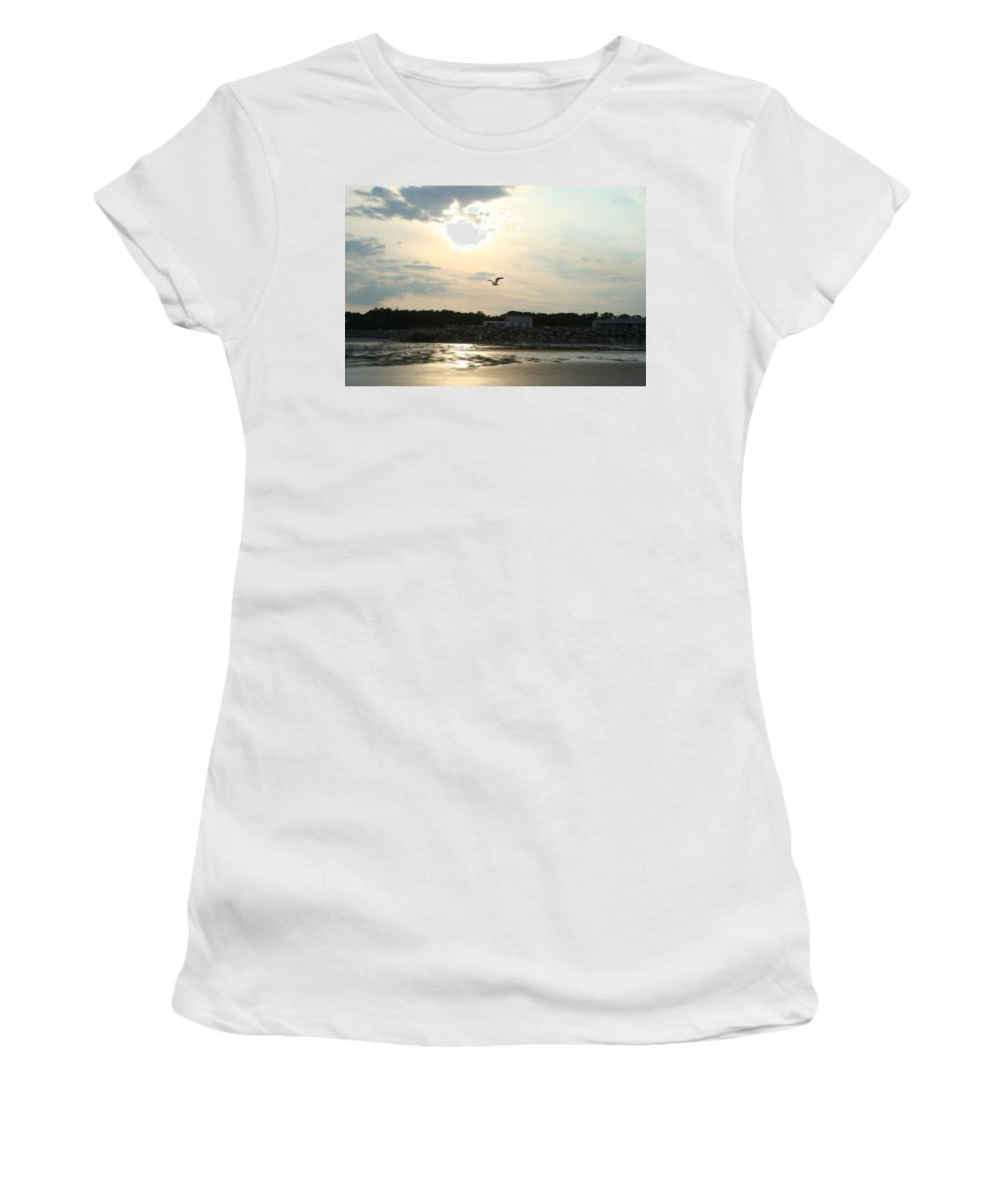 Photography Women's T-Shirt featuring the photograph Almost Paradise by Barbara S Nickerson
