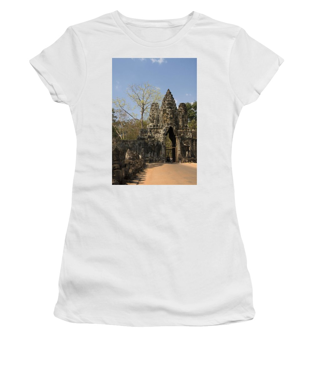 Ancient Women's T-Shirt (Athletic Fit) featuring the photograph Angkor Thom by Gloria & Richard Maschmeyer