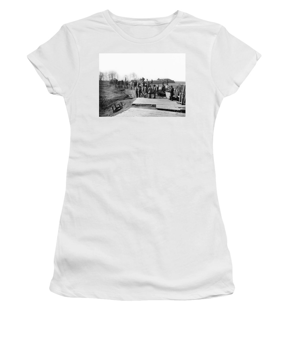 1862 Women's T-Shirt featuring the photograph Civil War: Bull Run, 1862 by Granger