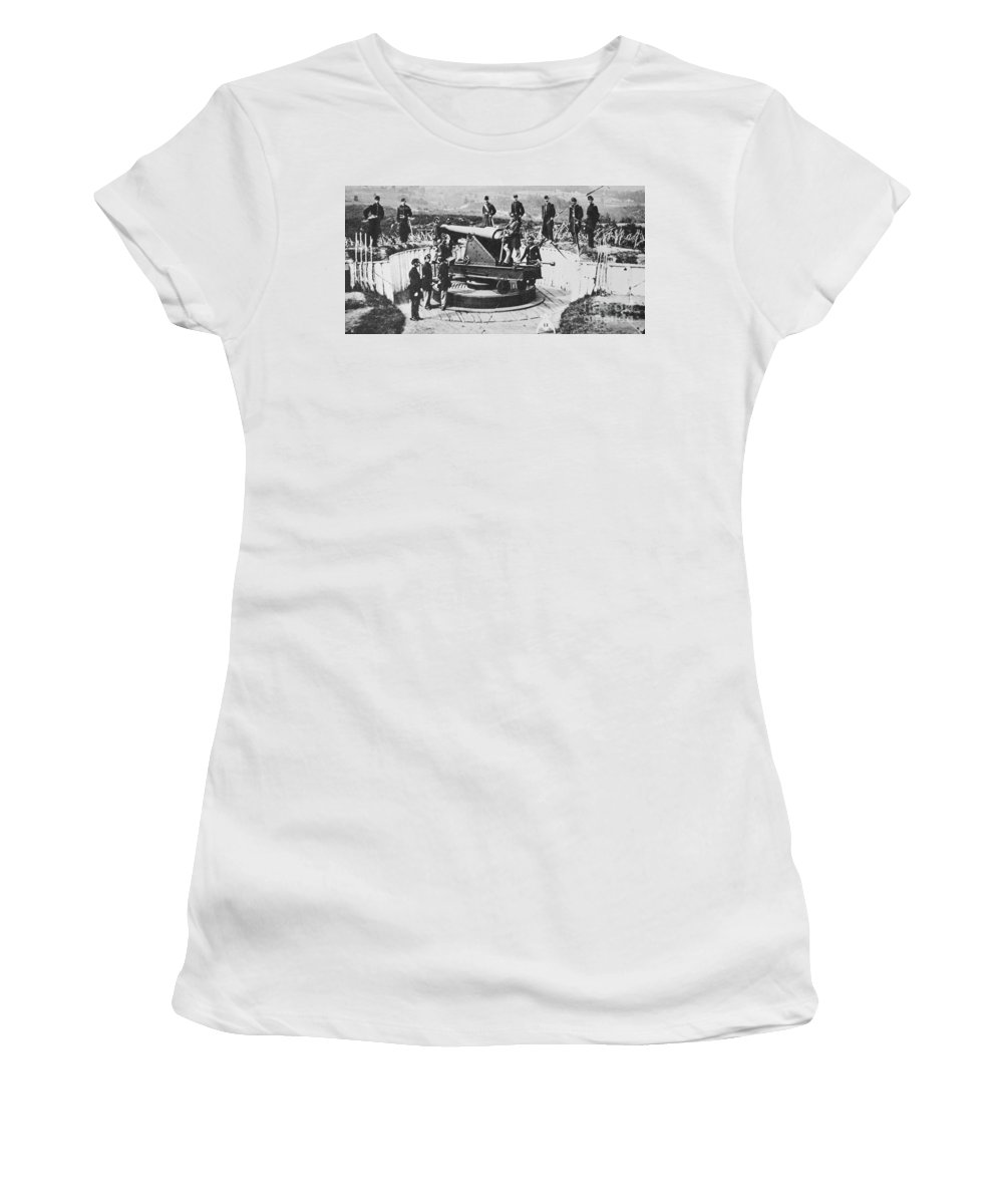 1860s Women's T-Shirt featuring the photograph Civil War: Union Fort by Granger