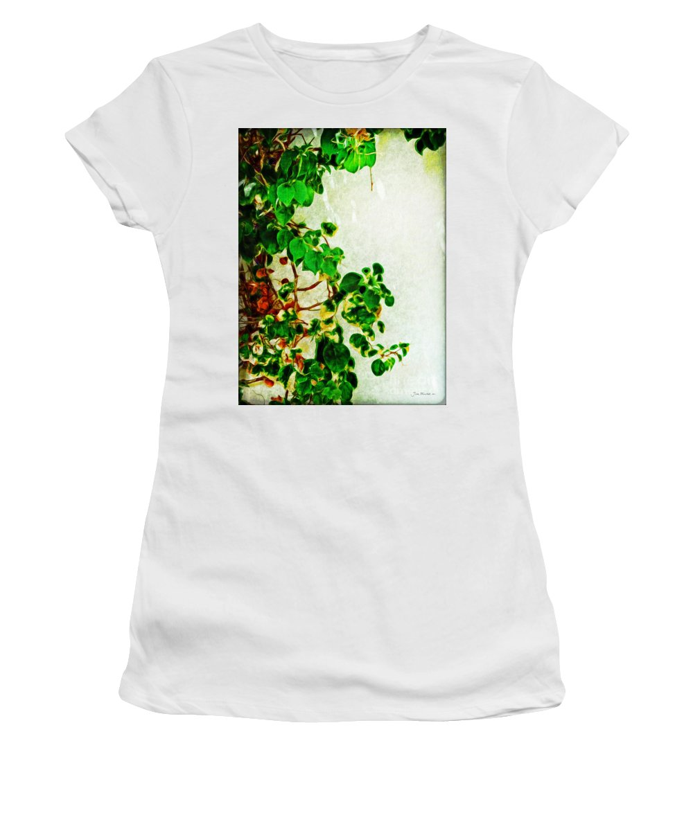 Clinging Vines Women's T-Shirt (Athletic Fit) featuring the photograph Clinging by Joan Minchak