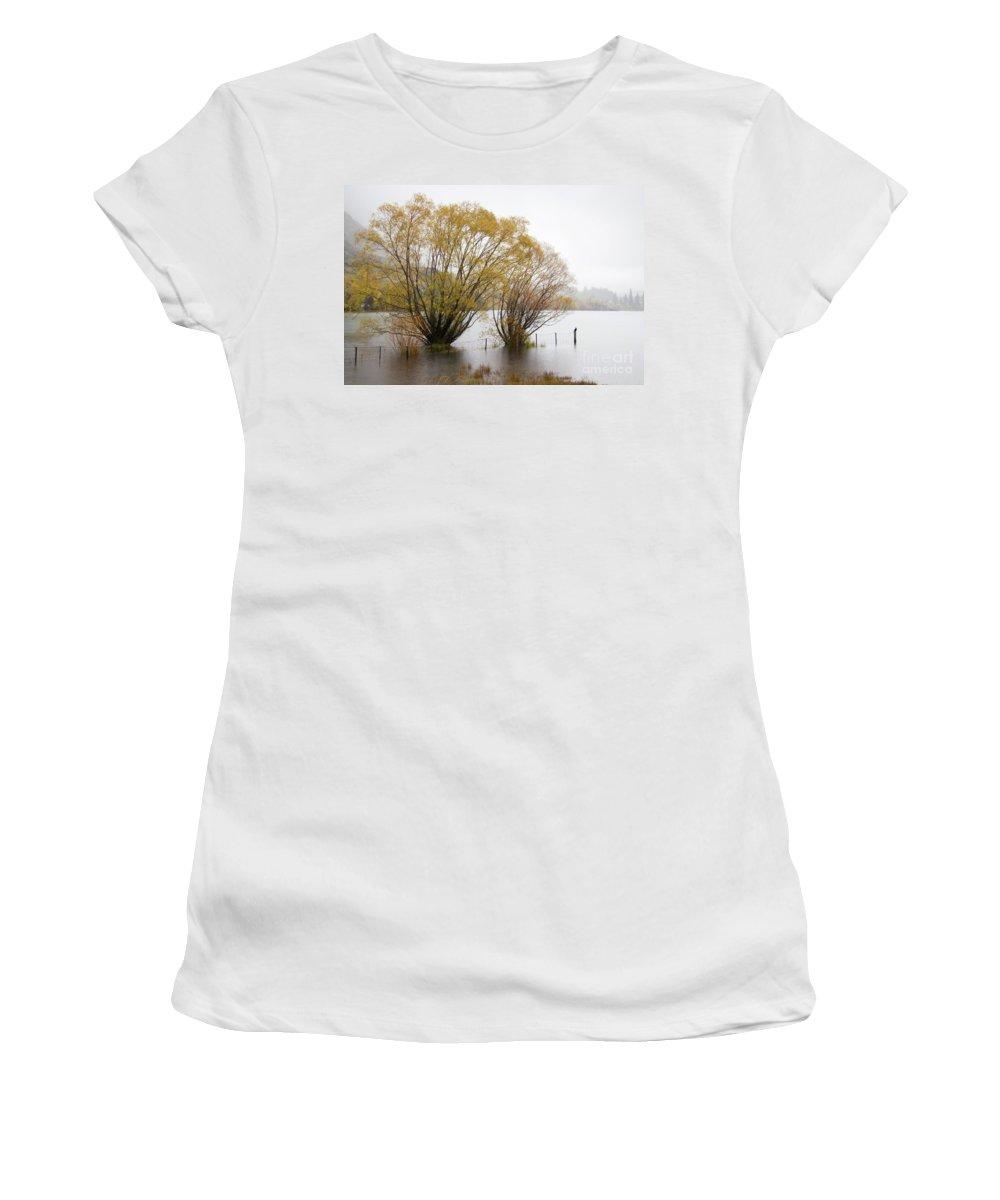 Lake Wanaka Women's T-Shirt (Athletic Fit) featuring the photograph Lake Wanaka by Carole Lloyd