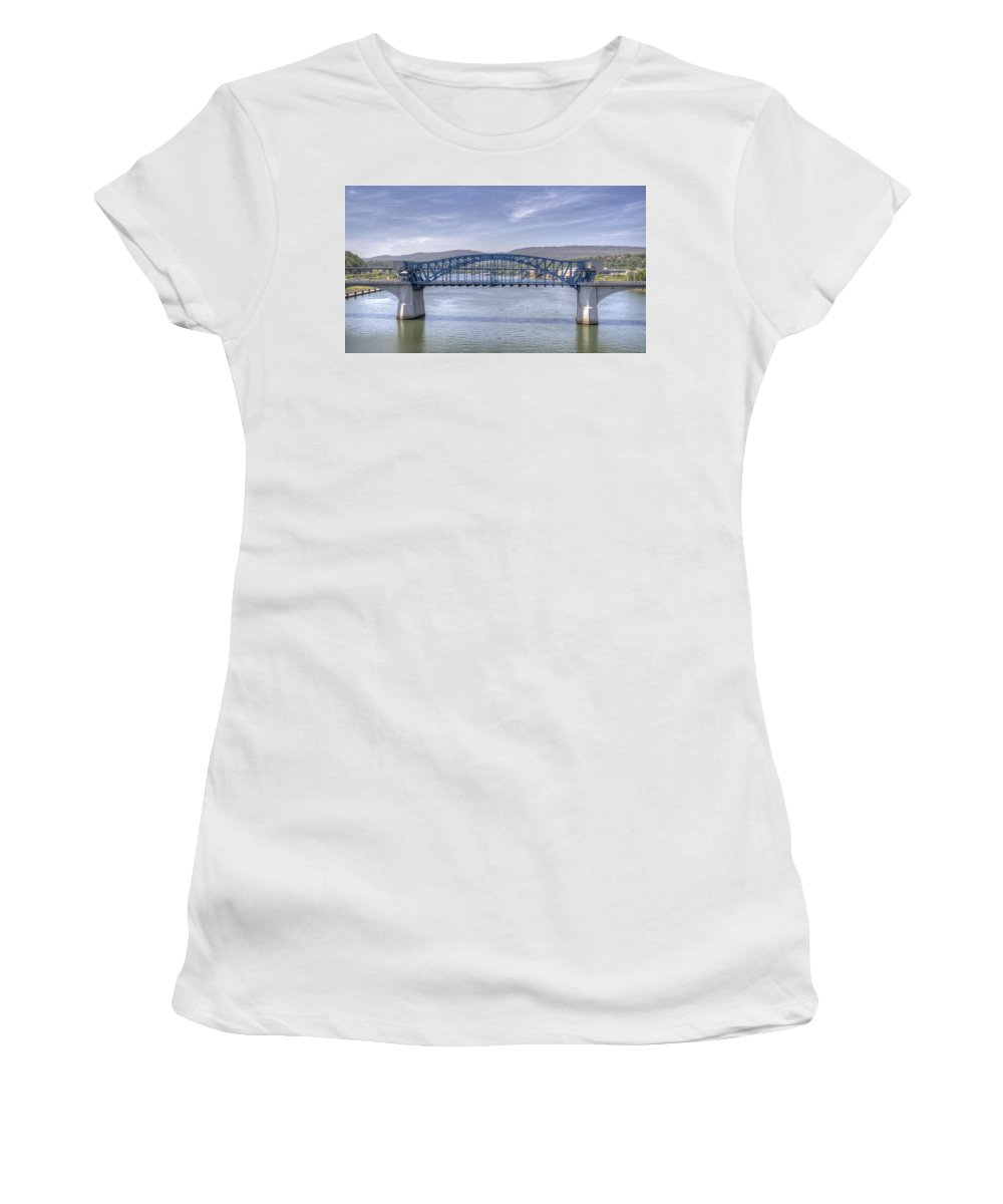 Chattanooga Women's T-Shirt (Athletic Fit) featuring the photograph Market Street Bridge by David Troxel