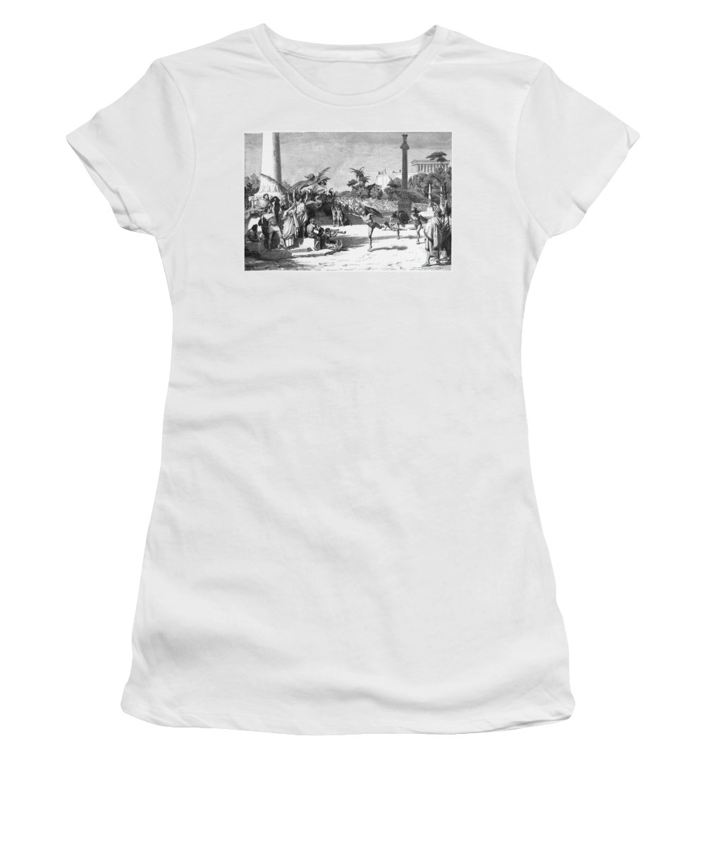 Ancient Women's T-Shirt featuring the photograph Olympic Games by Granger