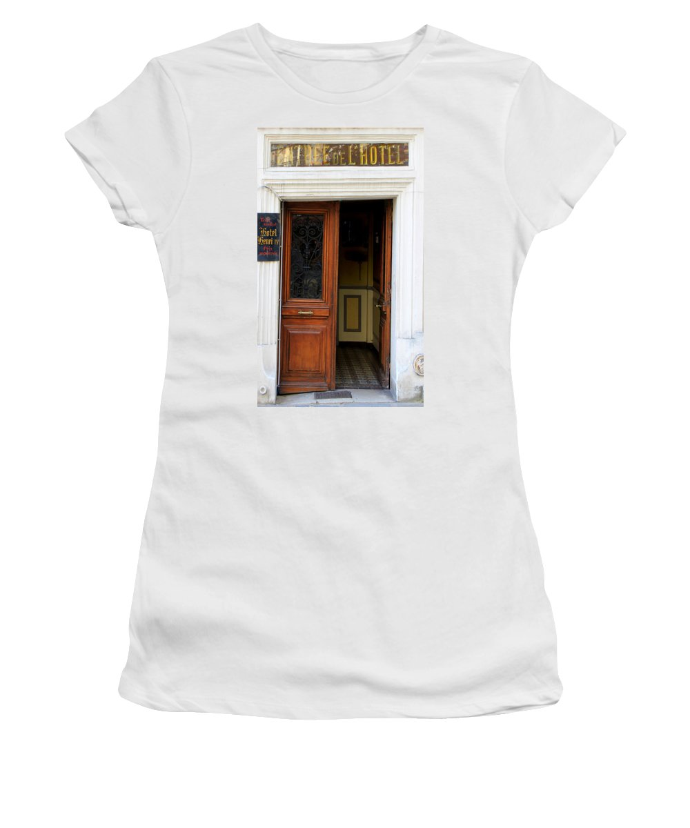 Paris Women's T-Shirt (Athletic Fit) featuring the photograph Paris Hotel by Andrew Fare