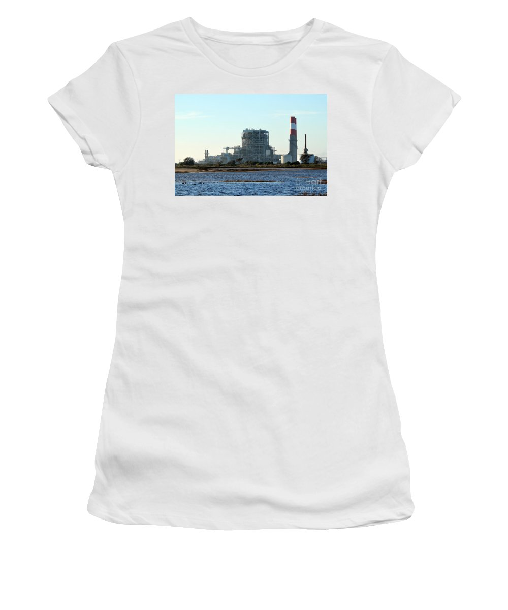 Industry Women's T-Shirt featuring the photograph Power Station by Henrik Lehnerer