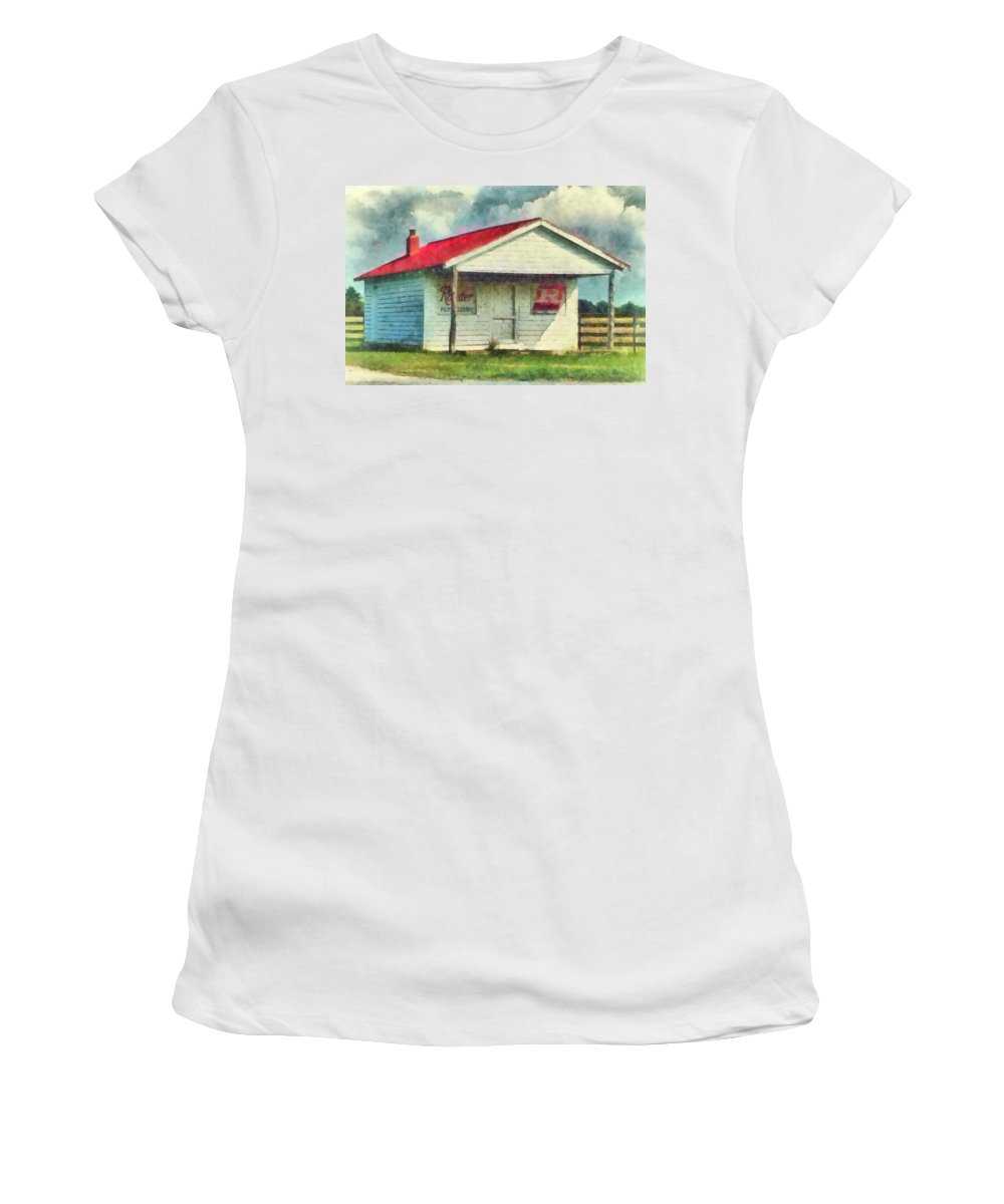 Watercolor Women's T-Shirt (Athletic Fit) featuring the painting Royster Fertilizers by Lynne Jenkins