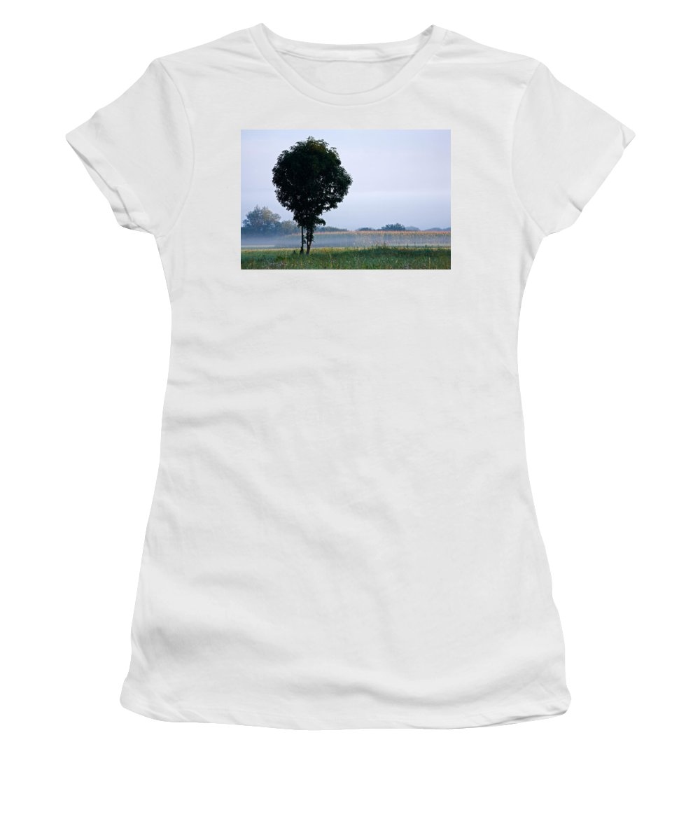 Tree Women's T-Shirt (Athletic Fit) featuring the photograph Standing Out From The Rest by Ian Middleton